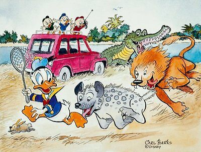 Carl Barks Art - Donald Duck - Help Unca Donald Is #2 In A Food Chain - Hc #24