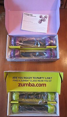 Zumba Toning Sticks~ 2 Sets~1 And 2.5 Pound Weights~Exercise~Ln In Boxes~