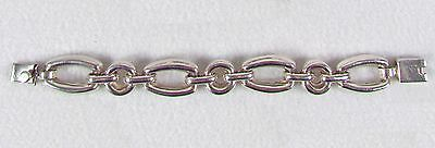 "Vintage Sterling Silver Taxco Heavy Chain Link Bracelet 925, 7.25"" 52 grams"