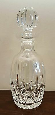 """WATERFORD Crystal 10 1/2"""" LISMORE Spirit DECANTER With STOPPER Ireland"""
