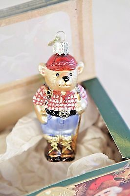Old World Christmas 2001 Teddy Bear Ornament Boxed