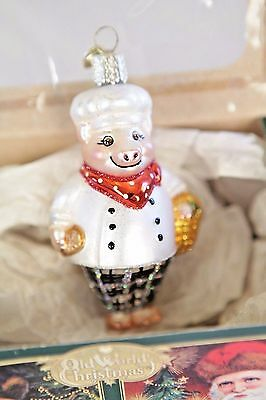 Old World Christmas Ornament Pig Chef