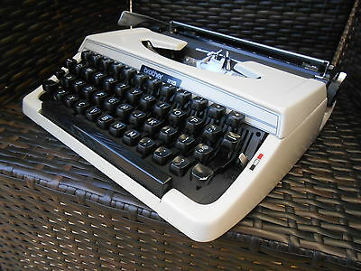 Vintage Retro Brother 215 Typewriter And Case EX. Working Cond.
