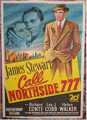 1948 Actor JIMMY /'JAMES/' STEWART Glossy 8x10 Photo Call Northside 777 Poster