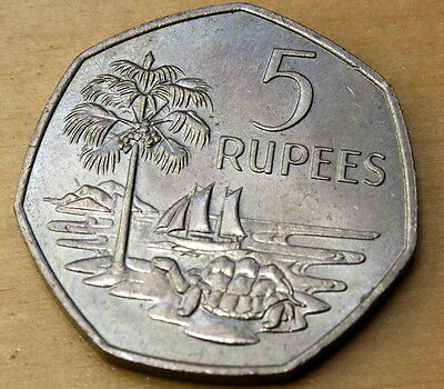 1972 Seychelles 5 Rupees