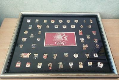 1984 Limited Edition Sponsor Set Corporate Issue Los Angeles Olympics Pin Set