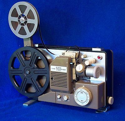 CANON S-400  DUAL 8mm SILENT MOVIE PROJECTOR, VARIABLE,  ZOOM LENS, SERVICED A1