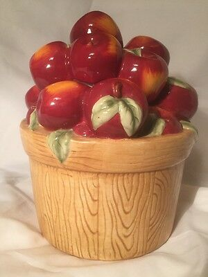 Apple Basket Cookie Jar Canister by Oneida Ceramic