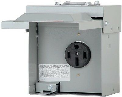 Eaton 50 Amp 1-Space 1-Circuit Heavy Duty Temporary RV Power Outlet Box