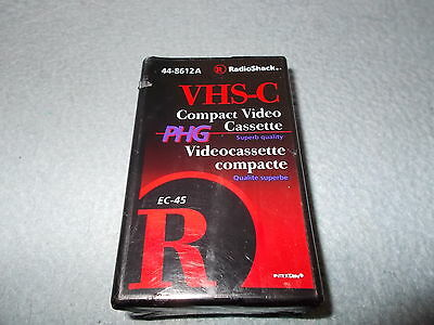 VHS-C EC-45 Compact Video Cassette. RadioShack New Sealed