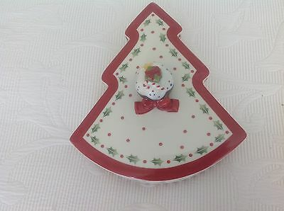 Villeroy Boch Christmas Tree Dish With Lid