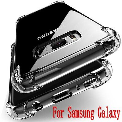 For Samsung Galaxy 360° Shockproof Soft Silicone Transparent TPU Case Cover Skin