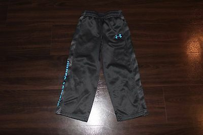 Under Armour Boys Youth Loose Athletic Track Sweat Pants Spellout Logo Size 4