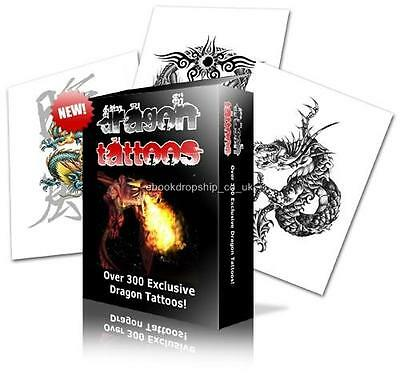 E Book Sale-Dazzling Dragon Tattoos & Fairies And Angels Tattoos On Cd
