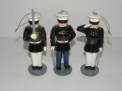 Bradford Editions US Marine Corps Nutcracker Ornaments LE First Issue with COA