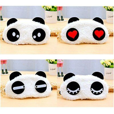 Comfortable Eye Mask Blindfold Panda Face Cover Fits For Adult And Kids