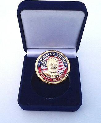 Donald J Trump 45Th Us President Jan 20 2017 Challenge Coin With Box 3208 Ecc