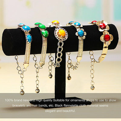 Black Bracelet Chain Watch T-Bar Rack Jewelry Hard Display Stand Holder ZJUS