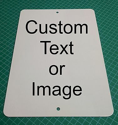 """Personalized 9"""" x 12"""" Aluminum Metal Sign Customize with Text or Picture"""