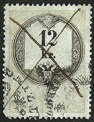 AUSTRIA 1858 VF Used The general revenue second issue stamp 12kr. St.# 4