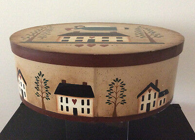 Rustic Decorative Storage Bentwood Box Sew Quilting Craft Home Decor Collectable