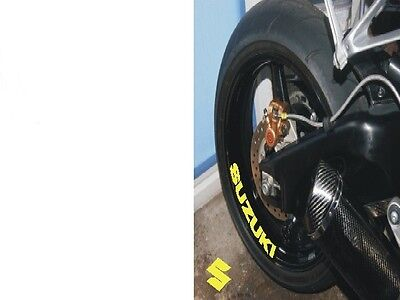 4 x SUZUKI WHEEL STICKERS  Motorcycle/Motorcross Vinyl Sticker Decals 4 x
