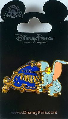 "Disney Cruise Line  "" Disney Fantasy ""  Dumbo Painters Pin New on Card"