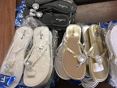 Mixed Lot of 25 pairs Women's Sandals Heart Jewel Flip Flops Clearance Sales