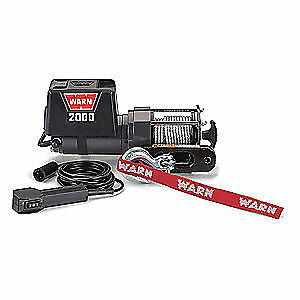 WARN Electric Winch,1-3/5HP,12VDC, 2000DC