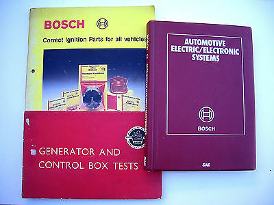 3 Vintage Auto Electric Repair And Parts Books