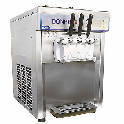 New Two Flavor with a Twist Soft Serve Ice Cream Frozen Yogurt Machine