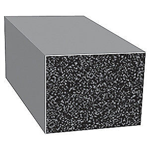 TRIM LOK INC EPDM Rubber Seal,Rectangle,0.75 In W,100 Ft, X274BT-100