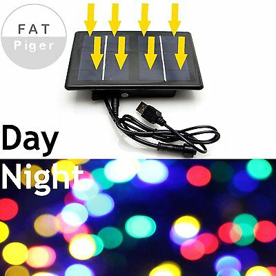 Solar Power USB Rechargeable 200 LED Light Strings Outdoor Patio Christmas Party