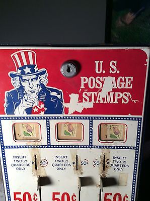vintage coin op uncle sam stamp vending machine