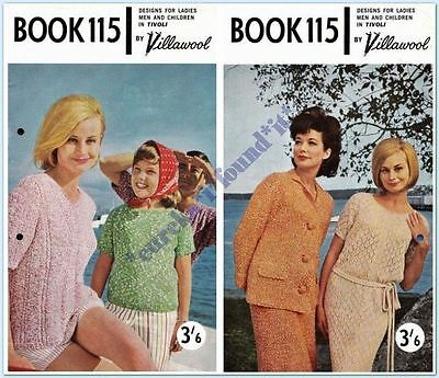 VILLAWOOL VINTAGE #115 FAMILY KNITS and CROCHET : 22 to 42 inch : 75 to 105cms