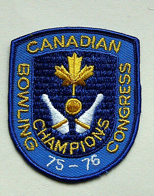 Vintage Canadian Bowling Congress Champions 75 - 76 Patch