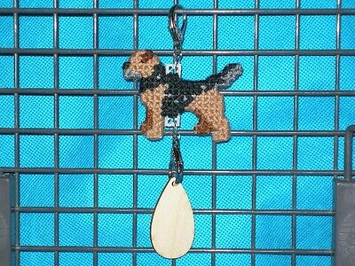 Border Terrier #3 dog crate tag or hang anywhere handmade sign pet themed art