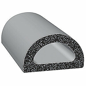 TRIM LOK INC EPDM Rubber Seal,D-Section,3/4 In W,25 Ft, X125HT-25