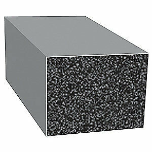 TRIM LOK INC EPDM Rubber Seal,Rectangle,0.5 In W,100 Ft, X272HT-100
