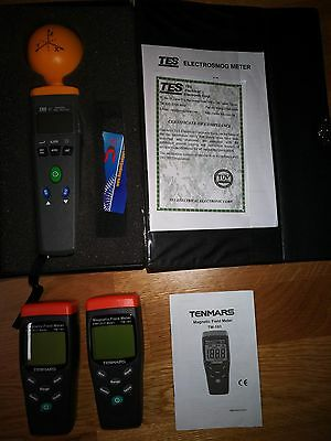 TENMARS Two pieces TM-191  and one  Tes-92 Emf Tester Electrosmog Meter.