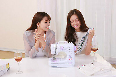 New Multifunction Electric Overlock Sewing Machine DIY Sewing Tool 12 Stitches