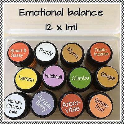 12 Emotional Doterra 1ml Pure Therapeutic Essential Oils Aromatherapy Diffuser