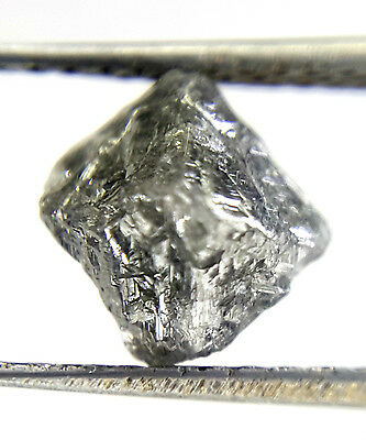 1.84TCW Gray Sparkling Color Natural shape African Antique Natural Rough Diamond