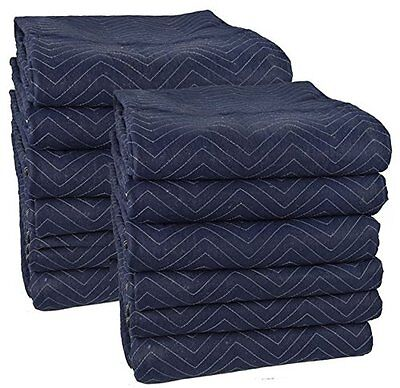 """""""Pro Moving Blankets 12-Pack - 72"""" x 80"""""""" FREE Shipping USA Seller"""