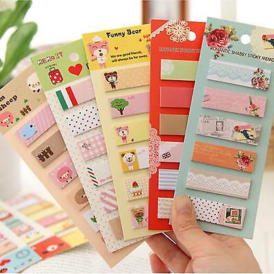 1X Girls Sweet Sticker Bookmark Marker Memo Index Tab Sticky Notes new