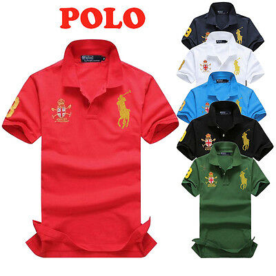 Men Lapel Polo Shirt Summer Solid Casual T-Shirt Short Sleeve BlendColor Terylen