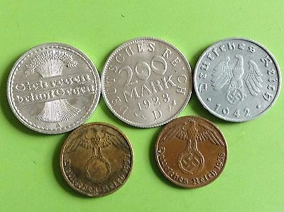 Germany Third Reich Empire Coins Collection Lot