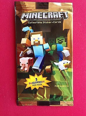 Minecraft Collectible Sticker-cards - Aus Seller