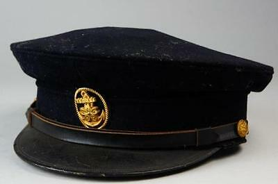 Excellent!! Original IJN WWII Imperial Japanese Navy Officer's Hat 1934 #a2720