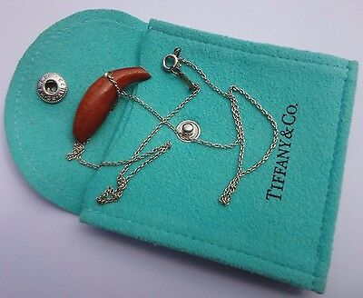 Tiffany & Co Silver Gehry Wood Fish Necklace Pendant Chain Rare!!!!!!!!!!!!!!!!!